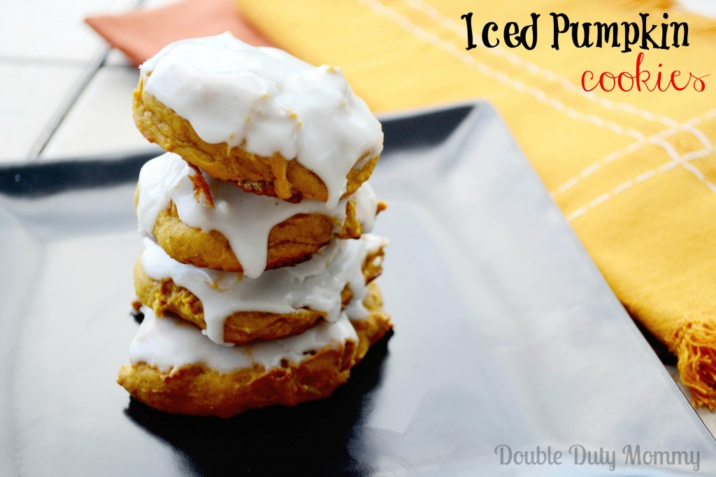 Iced Pumpkin Cookies With a Little World Market Flair - Double Duty ...