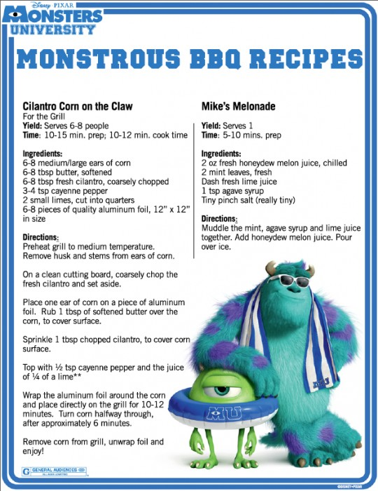 Monsters-University-BBQ-recipes-page-1-540x700