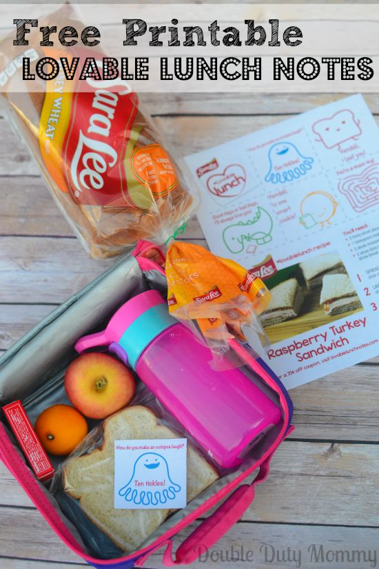 Printable Lunch Notes #LovableLunch AD